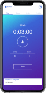 Mobile Measurements walking tracker