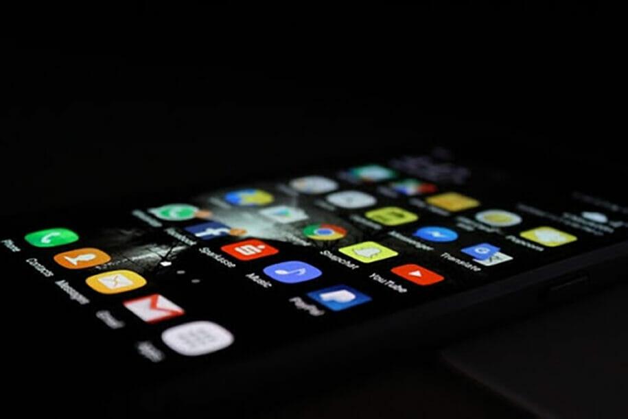 phone in the dark